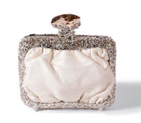 Rent Clutches - Pearl White Leather - Sofia Clutch | Rental Price - $95.00