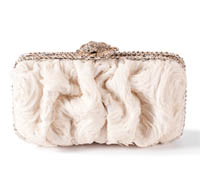 Rent Clutches - Ivory Tulle - Marilyn Clutch | Rental Price - $110.00