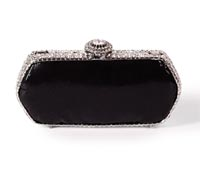 Rent Clutches - Black Caviar - Nadia Clutch | Rental Price - $90.00