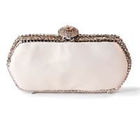 Rent Clutches - Pearl White Leather - Jackie Clutch | Rental Price - $90.00