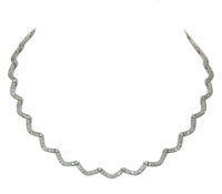 wedding jewelry: Scalloped Diamond Infinity Necklace | Rental Price - $210.00