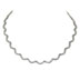wedding jewelry: Scalloped Diamond Infinity Necklace | Rent for $210.00