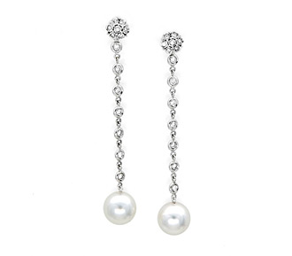Rent jewelry - Diamonds: .56TW | Gold: 18K White | Post | Length: 1 3/4 in.