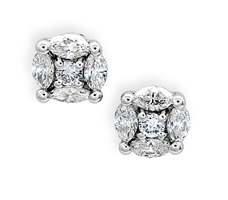 Special Occasion Jewelry Al Diamond Cer Solitaire Earrings Price 160 00