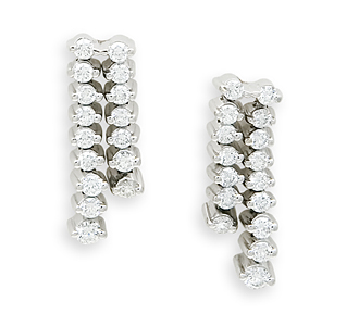 Rent jewelry - Diamonds: 1.50 TW | Gold: 14K White | Post | Length: 7/8 in.