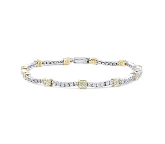 Rent jewelry - Diamonds: Fancy Light Yellow & White 3.71 TW | Gold: 18K White & Yellow | Length: 6 7/8 in.