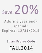 20% off until 12/31/2014 - use Promo Code FALL2014