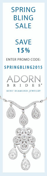 Receive 15% off for before 5/31/15, use Promo Code SPRINGBLING2015